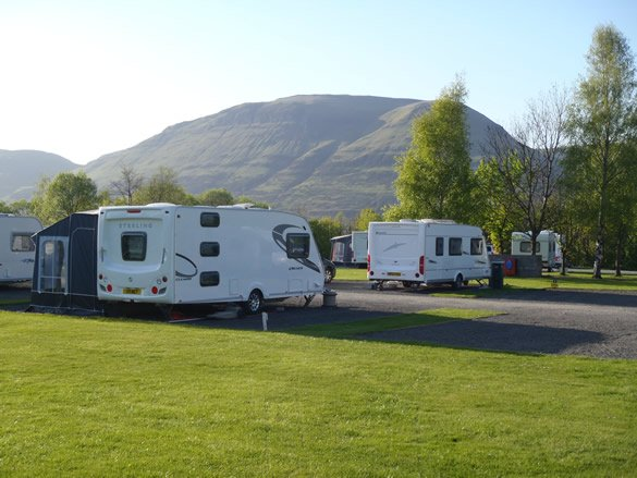 Campsite, touring caravan and motor home pitches